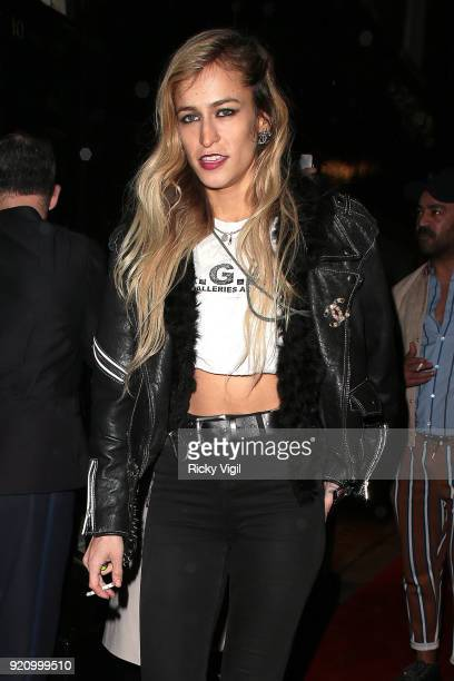 Alice Dellal seen attending a fashion party at MNKY HSE in Mayfair during LFW February 2018 on February 19 2018 in London England