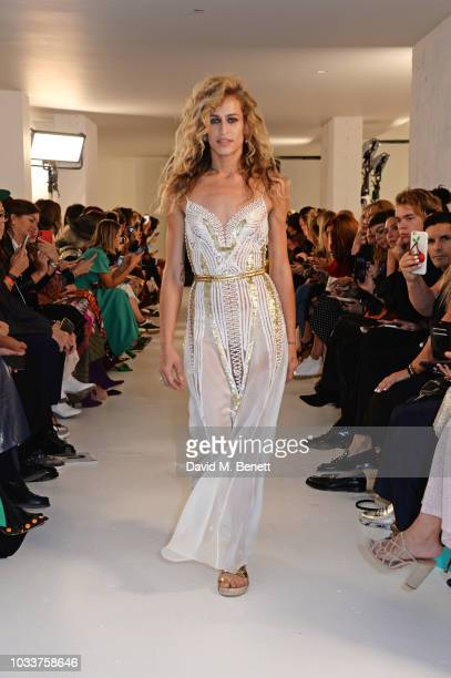 Alice Dellal walks the runway at the Temperley London SS19 fashion show on September 15 2018 in London England