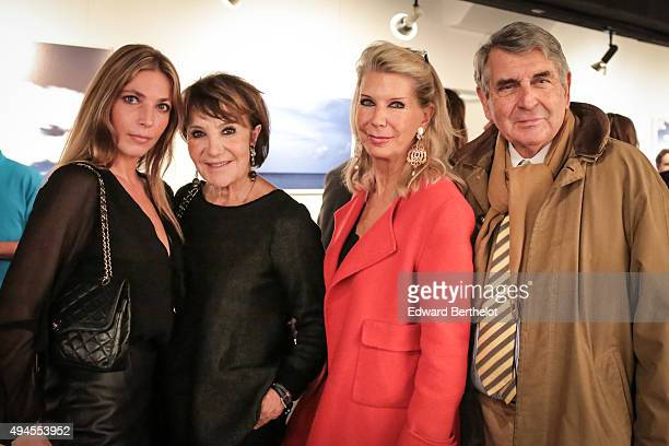 Alice Didier de Bourgues Yaguel Didier de Bourgues Baroness Ameil and Baron Ameil attending Benjamin Didier de Bourgues' photo exhibition at Espace...