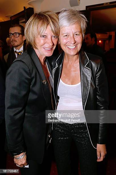 Alice Dona and Annie Lemoine attend Muriel Robin show 'Robin revient 'Tsoin Tsoin'' Premiere at Porte SaintMartin Theater in Paris on September 23...