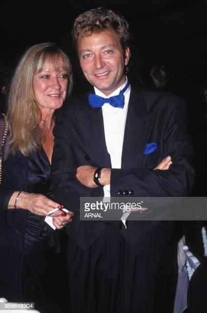 Alice Dona et Laurent Boyer lors d'une soirée à Paris en juin 1993 France