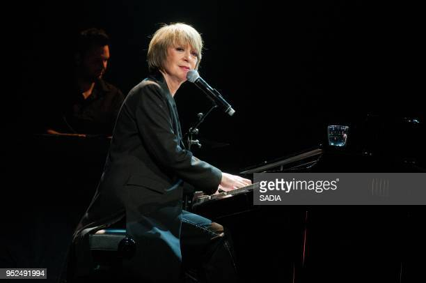 Alice Dona performs on stage during a concert at L'Alhambra Paris on April 7 2013 in Paris France