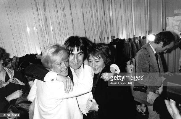 Alice Dona Serge Lama et Annie Girardot à l'hôtel Méridien à Paris en France le 15 janvier 1979