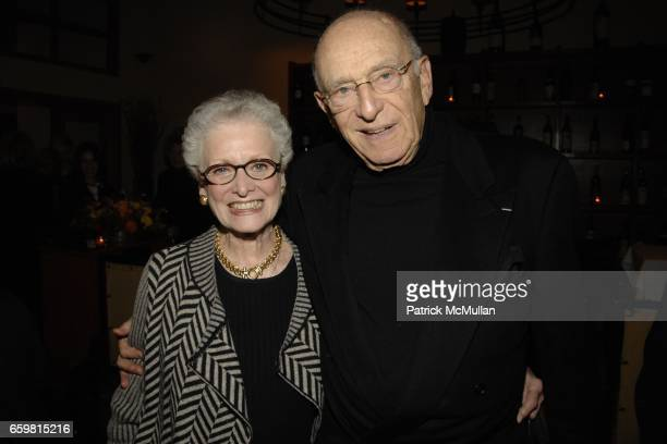 Alice Drucker and Mort Janklow attend LINDA and MORT JANKLOW 49th Wedding Anniversary at Wine Restaurant on November 27 2009 in New York City