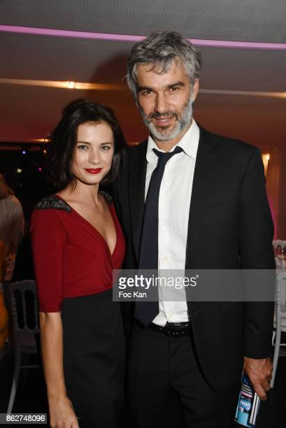 Alice Dufour and Francois Vincentelli attend the 'Gala de L'Espoir' Auction Dinner Against Cancer at the Theatre des Champs Elysees on October 17...