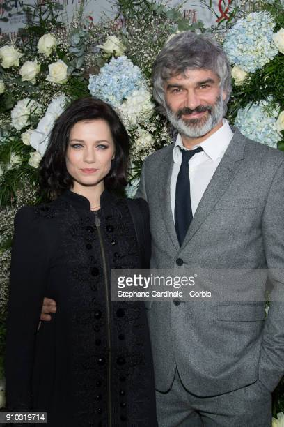 Alice Dufour and Francois Vincentelli attends the 16th Sidaction as part of Paris Fashion Week on January 25 2018 in Paris France