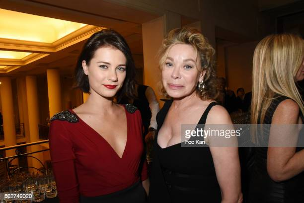 Alice Dufour and Grace de Capitani attend the 'Gala de L'Espoir' Auction Dinner Against Cancer at the Theatre des Champs Elysees on October 17 2017...