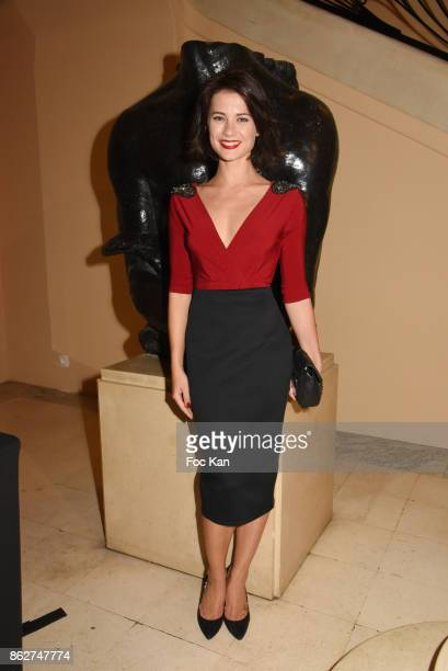 Alice Dufour attends the 'Gala de L'Espoir' Auction Dinner Against Cancer at the Theatre des Champs Elysees on October 17 2017 in Paris France
