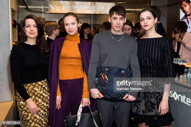 Alice Dwyer Alina Levshin Kilian Kerner and Lisa Vicari attends the KaterImbiss hosted by Samsonite and Kilian Kerner on February 16 2018 in Berlin...