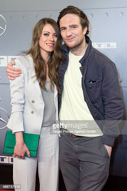 Alice Dwyer and Frederick Lau attends the Berlin premiere of the film 'Starfighter Sie wollten den Himmel erobern' at Kino International on March 18...