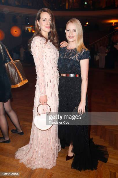 Alice Dwyer and Jennifer Ulrich during the Lola German Film Award Party at Palais am Funkturm on April 27 2018 in Berlin Germany