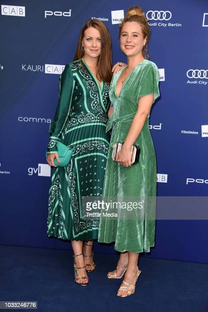 Alice Dwyer and Klara Deutschmann attend the Deutscher Schauspielpreis 2018 at Zoo Palast on September 14 2018 in Berlin Germany