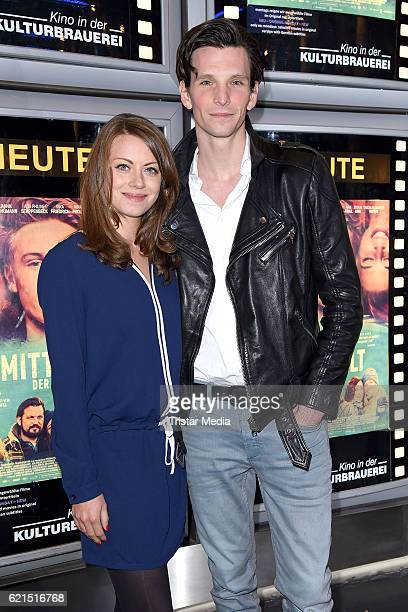 Alice Dwyer and Sabin Tambrea attend the 'Die Mitte der Welt' Berlin screening on November 6 2016 in Berlin Germany
