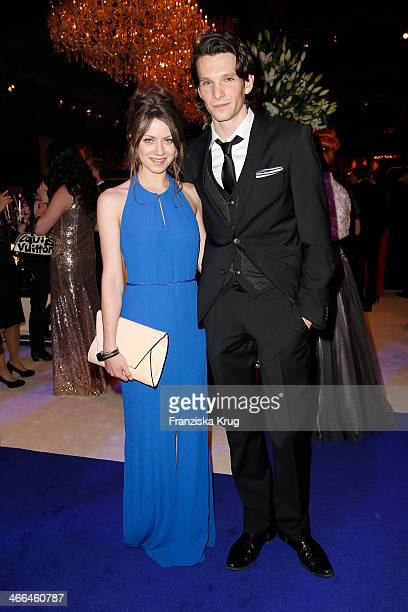 Alice Dwyer and Sabin Tambrea attend the Goldene Kamera 2014 at Tempelhof Airport on February 01 2014 in Berlin Germany