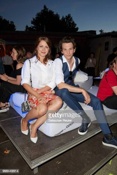 Alice Dwyer and Sabin Tambrea attend the HUGO show during the Berlin Fashion Week Spring/Summer 2019 at Motorwerk on July 5 2018 in Berlin Germany