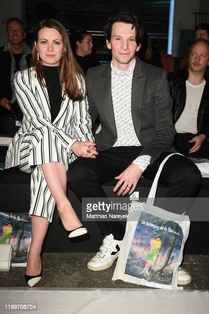 Alice Dwyer and Sabin Tambrea attend the KXXK show during Berlin Fashion Week Autumn/Winter 2020 at Kraftwerk Mitte on January 15 2020 in Berlin...
