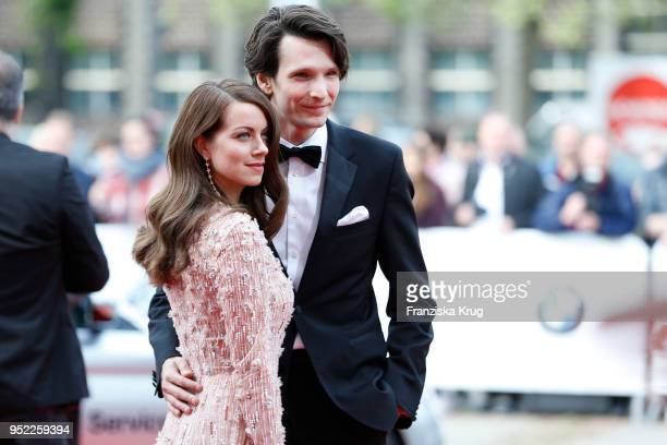 Alice Dwyer and Sabin Tambrea attend the Lola German Film Award red carpet at Messe Berlin on April 27 2018 in Berlin Germany