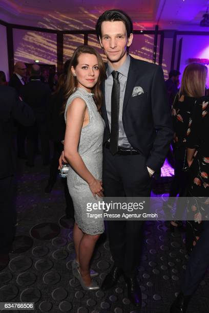 Alice Dwyer and Sabin Tambrea attend the Medienboard Berlin-Brandenburg Reception during the 67th Berlinale International Film Festival Berlin at on...