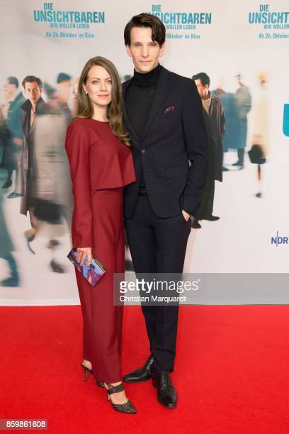 Alice Dwyer and Sabin Tambrea attend the premiere of 'Die Unsichtbaren' at Kino International on October 10 2017 in Berlin Germany