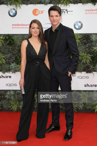 Alice Dwyer and Sabin Tambrea attends the Lola German Film Award red carpet at Palais am Funkturm on May 03 2019 in Berlin Germany