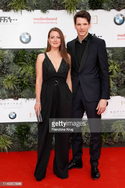 Alice Dwyer and Sabin Tambrea during the Lola German Film Award red carpet at Palais am Funkturm on May 3 2019 in Berlin Germany