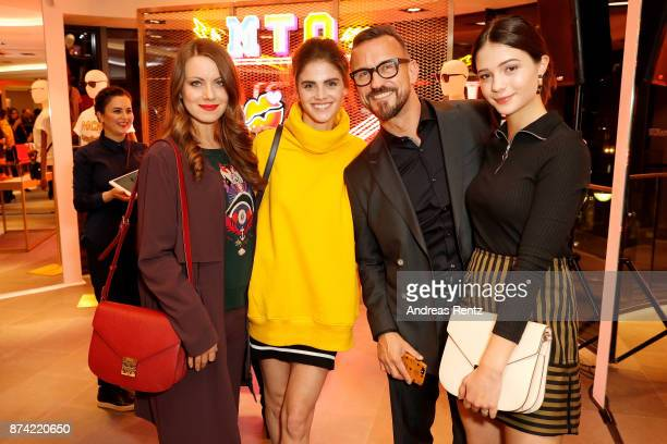 Alice Dwyer Lisa Tomaschewsky Eric Erhardt President MCM EMEA and LisaMarie Koroll attend the MCM Frankfurt Opera Store event on November 14 2017 in...