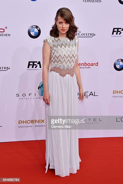 Alice Dwyer wearing a dress by Kilian Kerner attends the Lola German Film Award on May 27 2016 in Berlin Germany