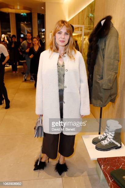 Alice Edwards attends the launch party to celebrate the opening of Yves Salomon's London boutique on November 05 2018 in London England