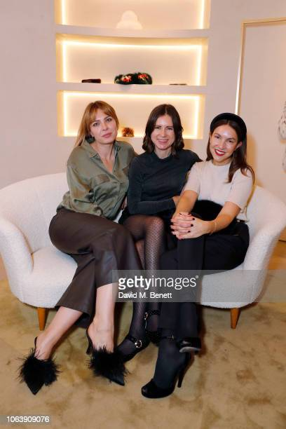 Alice Edwards Sophie Goodwin and Francesca White attend the launch party to celebrate the opening of Yves Salomon's London boutique on November 05...