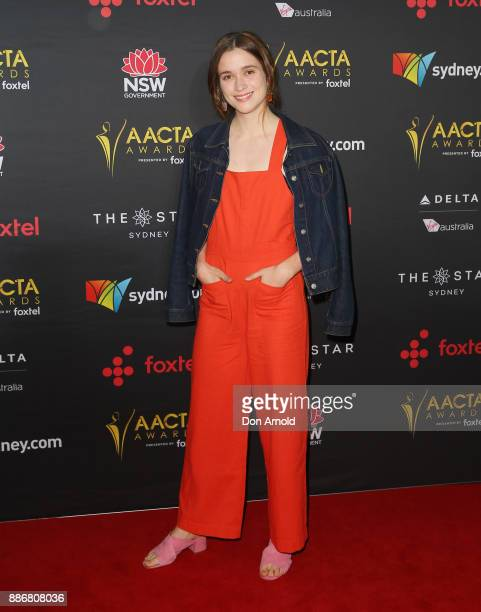 Alice Englert poses during the 7th AACTA Awards at The Star on December 6 2017 in Sydney Australia