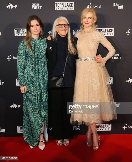 Alice EnglertJane Campion and Nicole Kidman arrive ahead of the Top of the Lake China Girl Australian Premiere at Sydney Opera House on August 1 2017...