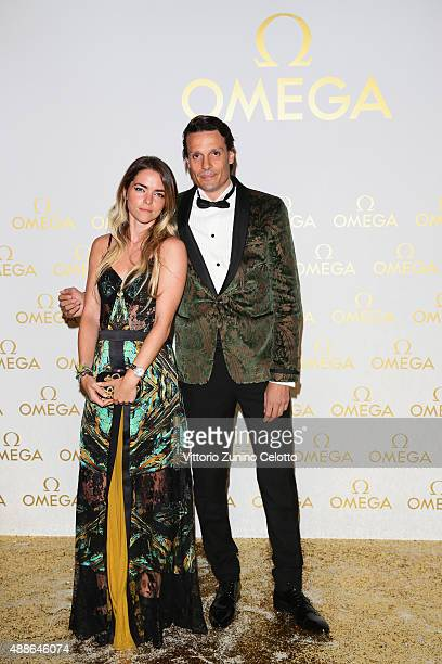 Alice Etro and guest attend OMEGA 'Her Time' Gala Dinner at Palazzo Del Ghiaccio on September 16 2015 in Milan Italy