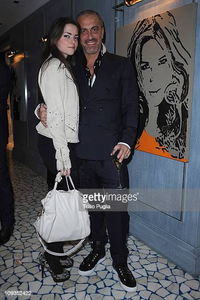 Alice Etro and Liborio Capizzi attend the Larusmiani Soteby's charity auctions on February 22 2011 in Milan Italy