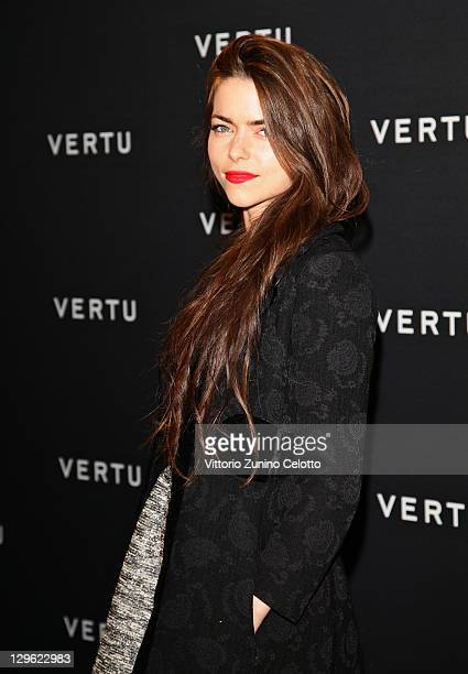 Alice Etro attend the Vertu Global Launch Of The 'Constellation' at Palazzo Serbelloni on October 18 2011 in Milan Italy