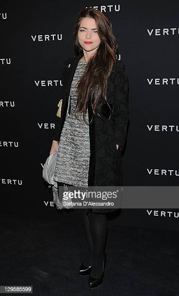 Alice Etro attends the Vertu Global Launch Of The 'Constellation' at Palazzo Serbelloni on October 18 2011 in Milan Italy