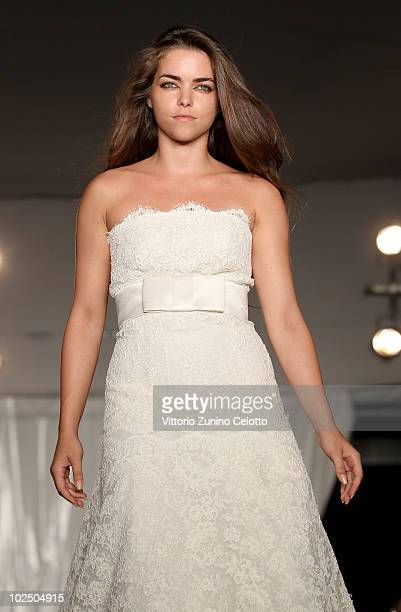 Alice Etro walks the runway dressing Pronovias during 'Italia Milano 150 Anni In Salute' Charity Gala held at Villa Necchi on June 28 2010 in Milan...