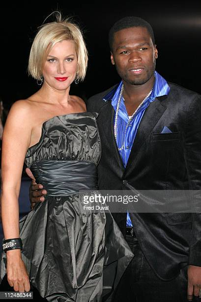 Alice Evans and 50 Cent during London Fashion Week Spring/Summer 2007 Emporio Armani 'One Night Only' Arrivals at Earls Court in London Great Britain