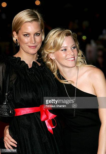 Alice Evans and Elizabeth Banks during 'The Children of Men' London Premiere Outside Arrivals in London Great Britain
