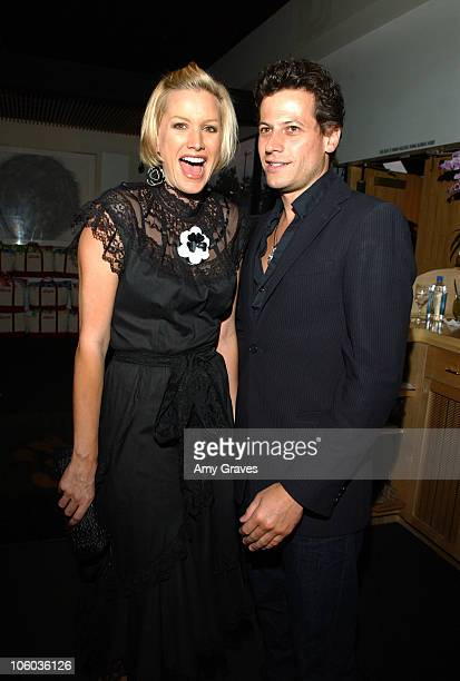 Alice Evans and Ioan Gruffudd during Allure and Linda Wells's Summer Cocktail Party at Hamasaku Restaurant in Los Angeles California United States