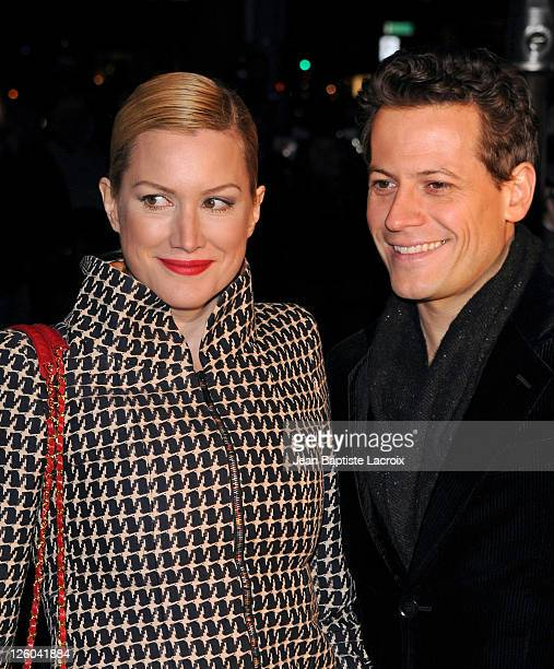 Alice Evans and Ioan Gruffudd sighted attending Chanel and Charles Finch preOscar party celebrating fashion and film at Madeo restaurant on February...