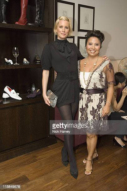 Alice Evans and Taryn Rose during Taryn Rose Launches New Shoe Collection Party at Mortons Club in London Great Britain