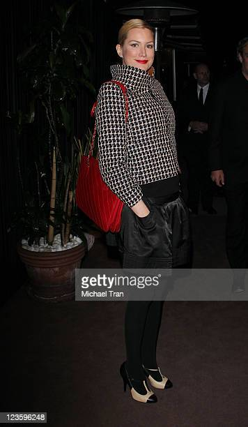 Alice Evans arrives at a preOscar dinner with Charles Finch hosted by Chanel held at Madeo Restaurant on February 26 2011 in Los Angeles California