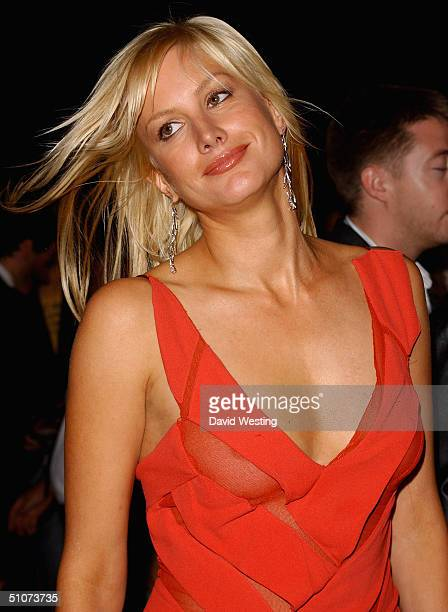 Alice Evans arrives at the After Party for the European Premiere of 'King Arthur' at the Guildhall on July 15 2004 in London