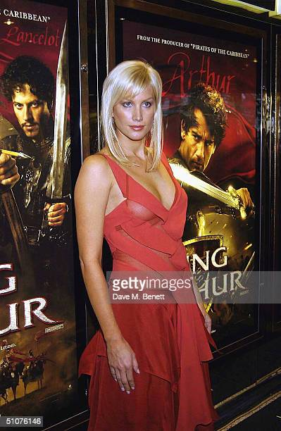 Alice Evans arrives at the European Premiere of 'King Arthur' at the Empire Leicester Square on July 15 2004 in London