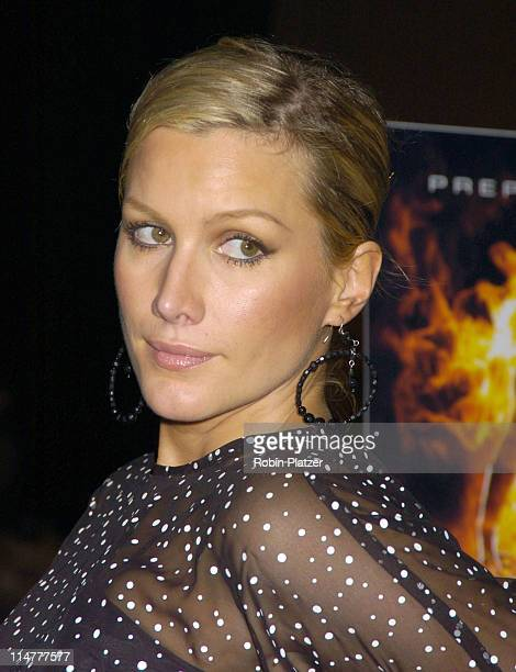 Alice Evans during 'Fantastic Four' New York City Premiere Arrivals at Liberty Island in New York City New York United States