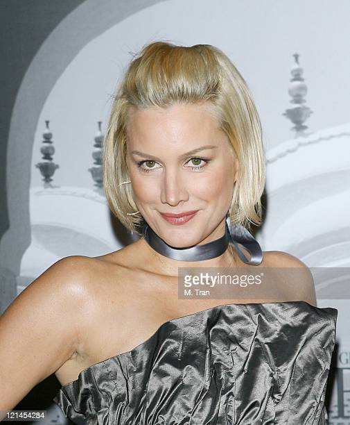 Alice Evans during Giorgio Armani Celebrates 2007 Oscars with Exclusive Prive Show at Green Acres Estates in Beverly Hills California United States