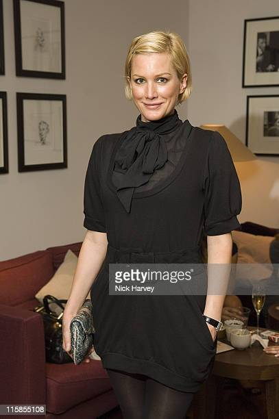 Alice Evans during Taryn Rose Launches New Shoe Collection Party at Mortons Club in London Great Britain