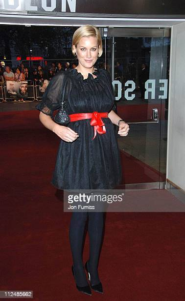Alice Evans during 'The Children of Men' London Premiere Inside Arrivals in London Great Britain