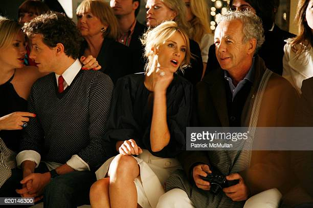 Alice Evans Ioan Gruffudd Dee Ocleppo and Gilles Bensimon attend TOMMY HILFIGER Fall 2008 Fashion Show at Avery Fisher Hall on February 7 2008 in New...