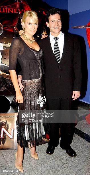 Alice Evans with Ioan Grufford during 'King Arthur' Dublin Premiere Arrivals at Dublin in Dublin Ireland